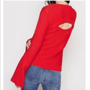 Joie Lauraly Red Sweater